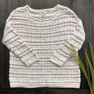 3/$40❤️Lucky Brand Knit metallic sweater sz S